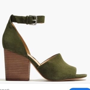 Madewell Alena Sandal in Suede Tent Green US 7